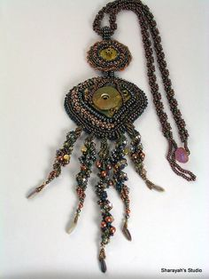 2 Mechanics Night Out Bead Embroidery Steam Punk  by 4uidzne, $355.00    Sale this week  20% off