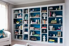 Building A House 363736107404007537 - How to Build a Budget-Wise Bookcase – Breathe new life into your lounge room with this clever, custom-built bookcase. Source by cynthiajacinthe Living Room Bookcase, Bookshelves Built In, Room Shelves, Diy Bookcases, Billy Bookcase Hack, Ikea Book Shelves, Diy Bookshelf Wall, Diy Built In Shelves, Built In Shelves Living Room
