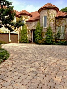Great neutral color! Driveway Paving Stones Pictures - Brick Pavers For Driveways - System Pavers