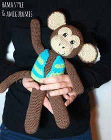 Marta Ruso Crochet Creativo: Mono con chaleco - Amigurumi [PATRÓN GRATIS]