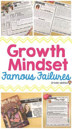 This pack includes 20 individuals from around the world who have experienced failure fostered a grow Elementary School Library, Upper Elementary, Elementary Schools, Famous Failures, Genius Hour, 5th Grade Classroom, School Librarian, Reading Passages, Teaching Strategies