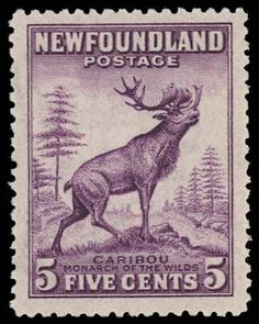 Newfoundland, 1932, 5c deep violet, perf 13 1/2, die I (Scott 191a), wide margins, pristine and choice, o.g., never hinged, Extremely Fine to Superb. SG 225. Scott $11. Suggested Bid $28.