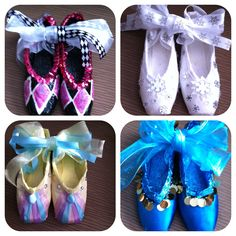 DDs pretty, decorated ballet point shoes for the Nutcracker silent auction.