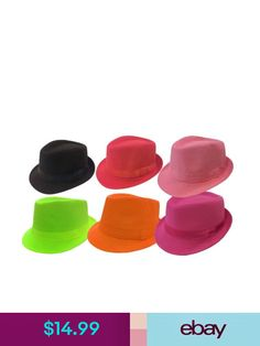 KID FEDORA TRILBY FEDORA Girl Boy Children BUCKET HAT SOLID CAP 9a39dd2df118