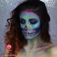 Are you looking for ideas for your Halloween make-up? Browse around this site for cute Halloween makeup looks. Cute Halloween Makeup, Halloween Makeup Looks, Mermaid Halloween Makeup, Mermaid Makeup Looks, Halloween Skull, Halloween Nails, Halloween Makeup Tutorials, Halloween Face Paint Scary, Little Mermaid Makeup