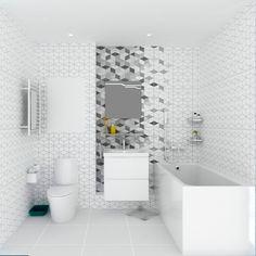 #ванна #совмещенный #санузел #плитка #раковина #геометрия #дизайн