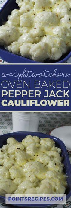 Weight Watchers Oven Baked Pepper Jack Cauliflower via @5mintohealth