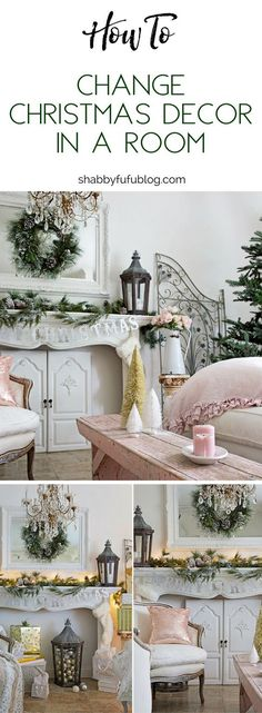 Easy Ways To Change Christmas Decor In A Room #christmas #decor #winter