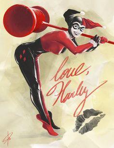 Harley quinn, DC Comics, Batman, Bat-Art, Joker, Dr. Harleen Quinzell, Mad Love, the New 52, Carlos Cabaleiro Art, cabaleiro.art@gmail.com https://www.facebook.com/cabaleiro.art https://twitter.com/CabaleiroArt http://pinterest.com/cabaleiroart http://about.me/carloscabaleiro http://fineartamerica.com/profiles/carlos-cabaleiro.html http://cabaleiroart.deviantart.com/ http://comicartcommissions.com/Cabaleiro.html http://www.darkknightnews.com/author/cabaleiro/  http://www.redbubble.com/people