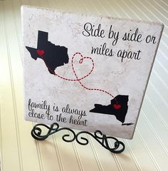 Side by side or miles apart family is always by PapercutzDesigns