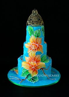 Batik Beauty by Joyliciouscakes (8/30/2012)  View cake details here: http://cakesdecor.com/cakes/27108