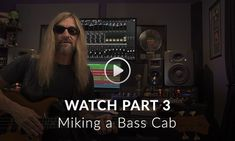 James Lomenzo (Megadeth, Zakk Wylde, David Lee Roth) shows how you can mic up a bass cab, from mic placement to signal chain into your computer. David Lee Roth, Zakk Wylde, Bass, Guitar, Megadeth, Lowes, Guitars, Double Bass