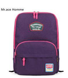 NA-0117 New Unisex Women Men Girls Canvas Backpack School Bag Satchel Travel Tote Black Patterned Shoulder bag