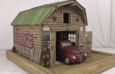 1:24 Danbury Mint 1940 ford Barn diorama lights. over 50 pics