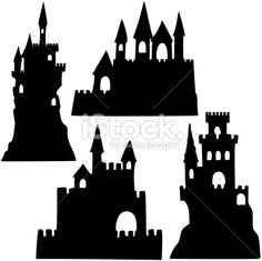 Château, Silhouette, Vectoriel, Illustration et peinture, Sable Illustration vectorielle libre de droits