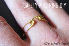 SAFETY PINS RING DIY | MY WHITE IDEA DIY