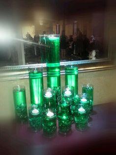 Emerald City for the Wizard of Oz Wedding at | http://amazingbirthdayideas.blogspot.com