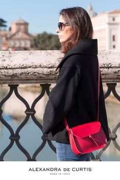 Are you looking for a designer leather handbag? Click through to check out the Red Mini Saddle, handmade in Italy with smooth