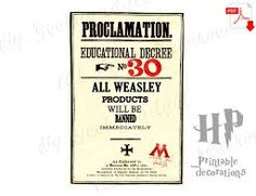 Image result for ministry of magic proclamation template
