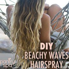 DIY Beach Waves Hair Spray Recipes & Homemade Sea Salt Spray