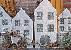 Deko-Häuser aus Holz | DIY LOVE