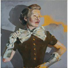 Jan Szczepkowski, Pani Jaba, Grey, Painting, Figurative, Dark Images, Fine Art, Museums, Literatura, Gray