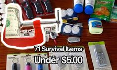 71 Survival Items Under $5.00, prepping. Survival items don't have to cost you a small fortune. See what 5 dollar preps you can buy today.