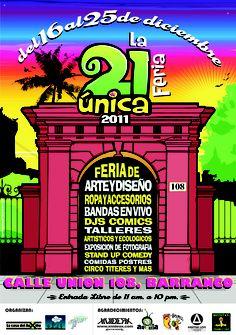 [2011] Flyer. Cuarta edición de la 21única feria   Por: Samuel Gutierrez