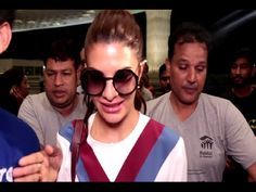 Jacqueline Fernandez spotted at Mumbai airport.