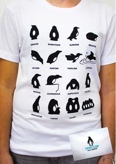 We love this penguin moods t-shirt from SANCCOB! The perfect souvenir of your time at the African Penguin and Seabird Conservation project with AVIVA!