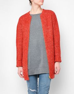By The Fire Knitted Bomber by MinkPink