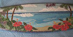 Art gallery of Caribbean Blue Marketing. Mosaic Tray, Mosaic Tile Art, Mosaic Glass, Stained Glass, Mosaic Projects, Fun Projects, Mosaic Pictures, Surfboard Art, Concrete Art