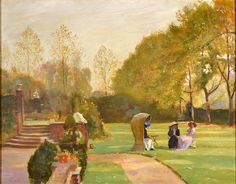 In the Garden by GEORGE SPENCER WATSON - Cider House Galleries