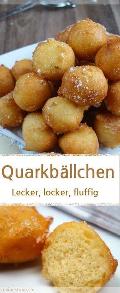 Leckere Quarkbällchen ohne Hefe, locker und fluffig - MeineStube Recipe for quark balls without yeast, which are tasty, fluffy and fluffy. Easy Smoothie Recipes, Easy Smoothies, Easy Healthy Recipes, Baby Food Recipes, Cake Recipes, Snack Recipes, Easy Meals, Dessert Recipes, Snacks