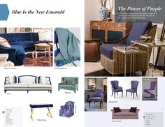 Trends: Blue is the New Emerald and The Power of Purple Stanley Furniture, Purple, Blue, Emerald, Trends, Interior Design, Spring, Gift, Summer