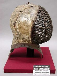 Tournament Helm (Kolbenturnierhelm) Date: 1450–1500 Medium: Steel, textile, leather, gesso, polychromy