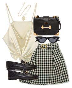 """Untitled #5282"" by theeuropeancloset on Polyvore featuring Jennifer Meyer Jewelry, Gucci and Prada"