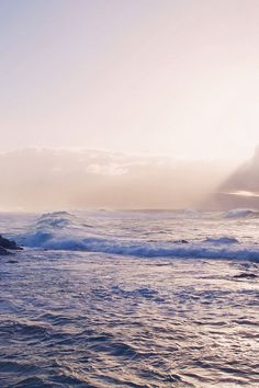 Sea Ocean Rock Nature Wave Sky #iPhone #4s #wallpaper