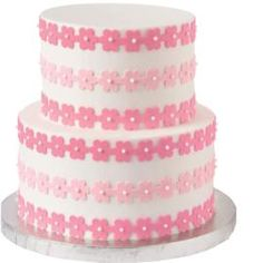 In-the-Pink Flower Cake - Simple but nice!  Flower party
