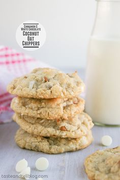 Cinnamon and White Chocolate Coconut-Oat Chippers {The Picky Palate Cookbook Review} - Taste and Tell