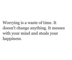 quote, happiness, and worrying image