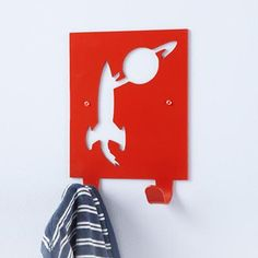 Kids' Storage: Kids' Space Wall Hook in All Room Decor