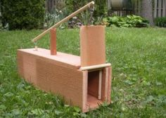 DIY Box Rabbit Trap - catch those rabbits that are destroying your garden... #diy #homesteading