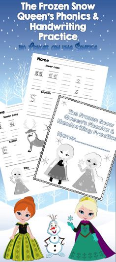 Have fun with the Snow Queen while reinforcing proper letter formation, letter sounds, and letter names.