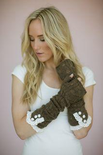 long fingerless gloves