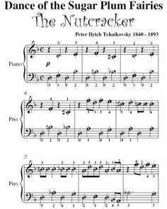 Tchaikovsky Nutcracker Sugar Plum Fairy | Dance of the Sugar Plum Fairy Nutcracker Tchaikovsky Easy Note Piano ...