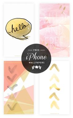 Free Pink and Gold Watercolor iPhone Wallpapers | Wonder Forest - Create, Explore, Inspire