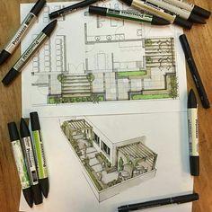 Landscape sketch design architects New Ideas Landscape Sketch, Landscape Architecture Design, Architecture Drawings, Art And Architecture, Landscape Architects, Classical Architecture, Interior Design Sketches, Sketch Design, Web Design