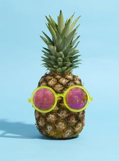 This pineapple looks ready for a summer pool party! Who else loves pineapple? It is such a perfect summer food!