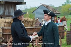 Check out #TURN premiering on AMC April 6, 2014 at 9|8c. TURN is filming in Virginia! If you follow along and wish to tweet, be sure to use the hashtag #TURNVA.   Image: Kevin McNally as Richard Woodhull and Jamie Bell as Abraham Woodhull. Photo: Antony Platt/AMC
